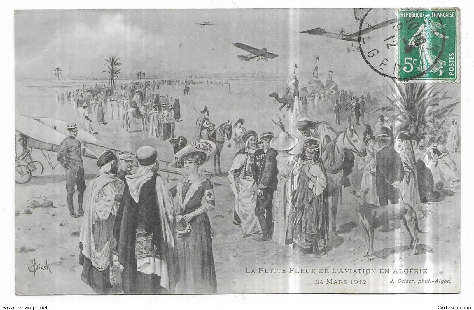 Alger La Petite Fleur De L' Aviation En Algérie 24 Mars 1912 J. Geiser, Phot.-Alger Illustrateur A. Birck - Algeri
