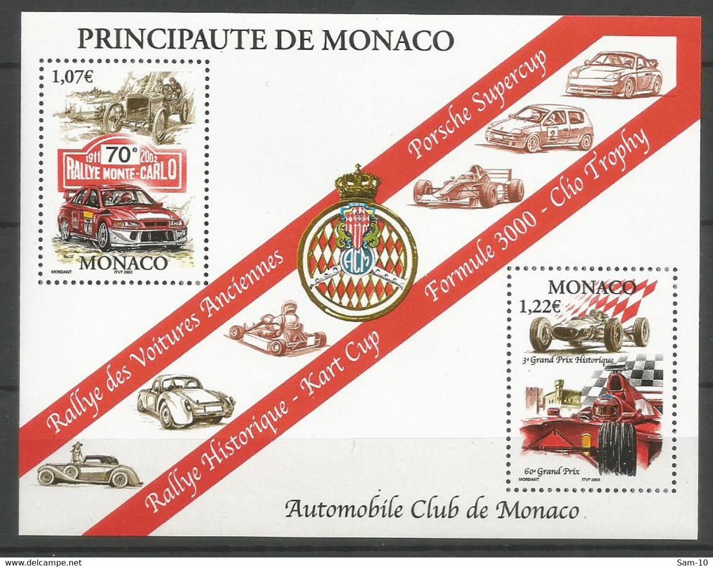 Bloc  Monaco   Neuf ** N 86  Vendu Au Prix De La Poste - Blocchi