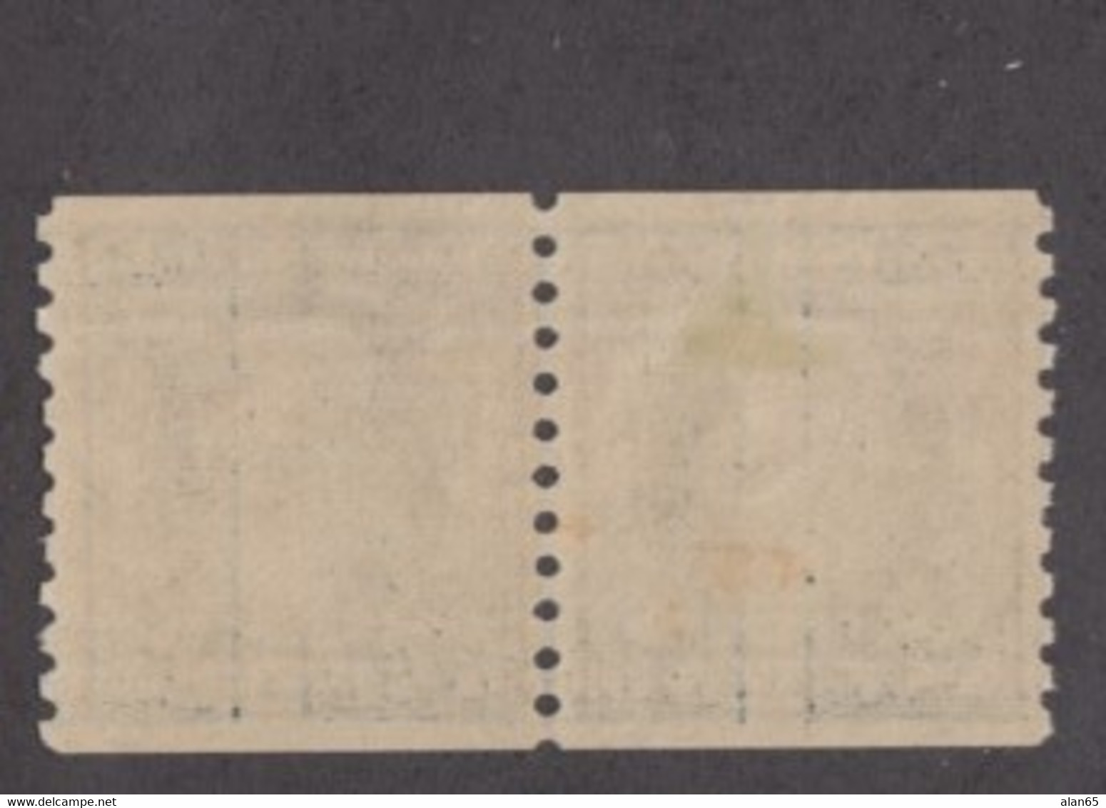 Sc#458, 5c Washington Line Pair Coil, 1916 US Stamp Issue - Unused Stamps
