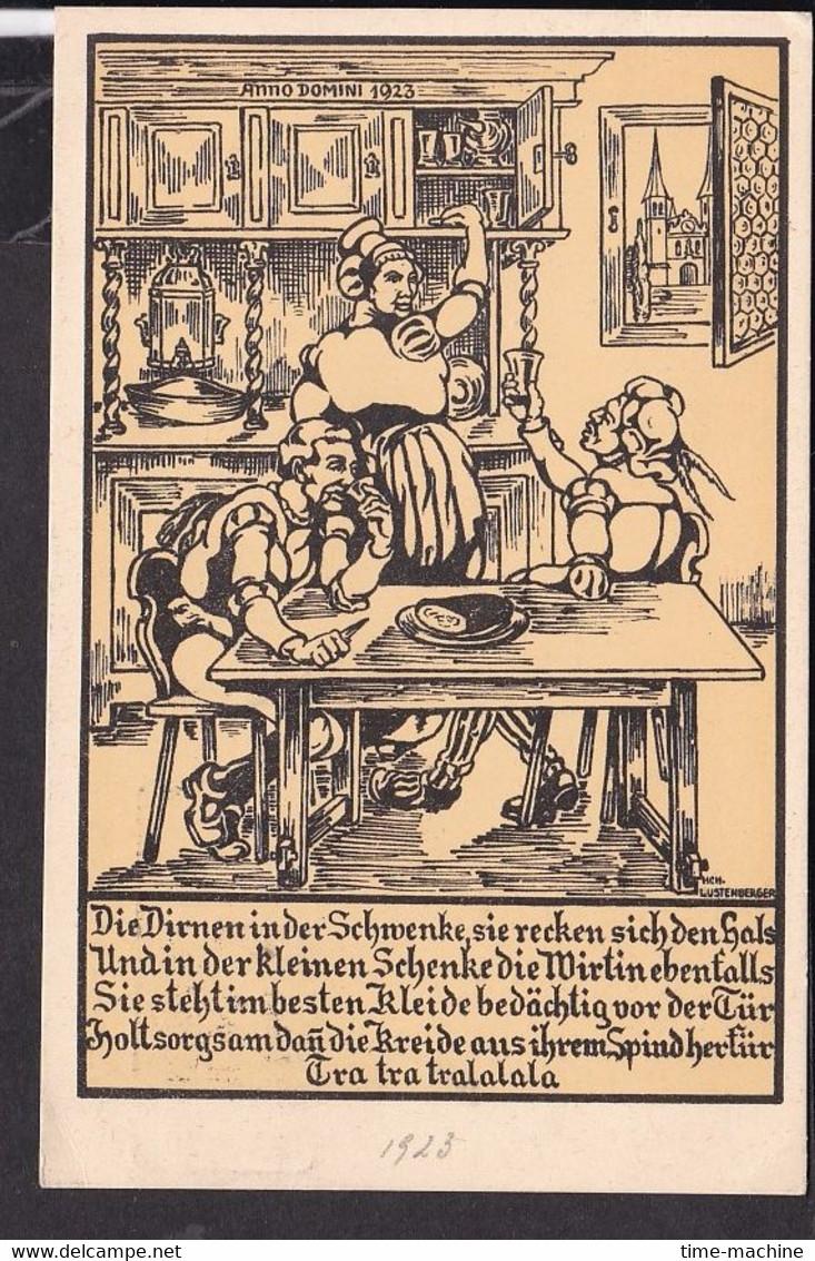 Künstlerpostkarte Luzern Safranessen    , Fasnacht  1923 - LU Lucerne