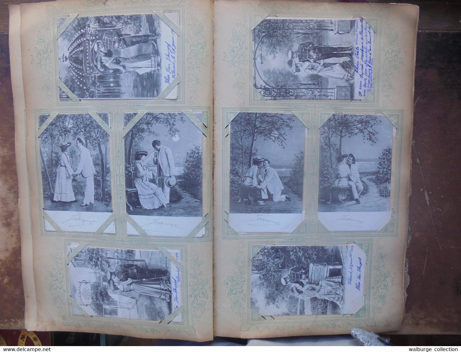 374 CARTES ANCIENNES MAJORITES FANTAISIES En ALBUM (3 KILOS) - 100 - 499 Postcards