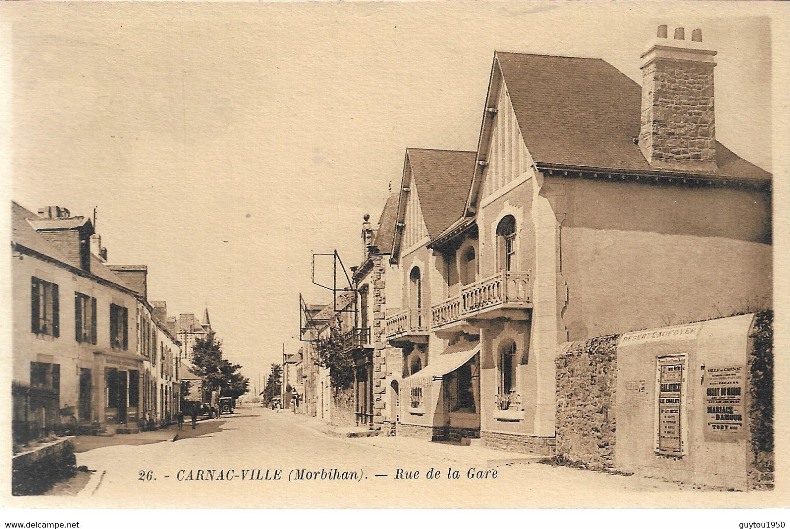 Carnac Ville Rue De La Gare - Andere Gemeenten