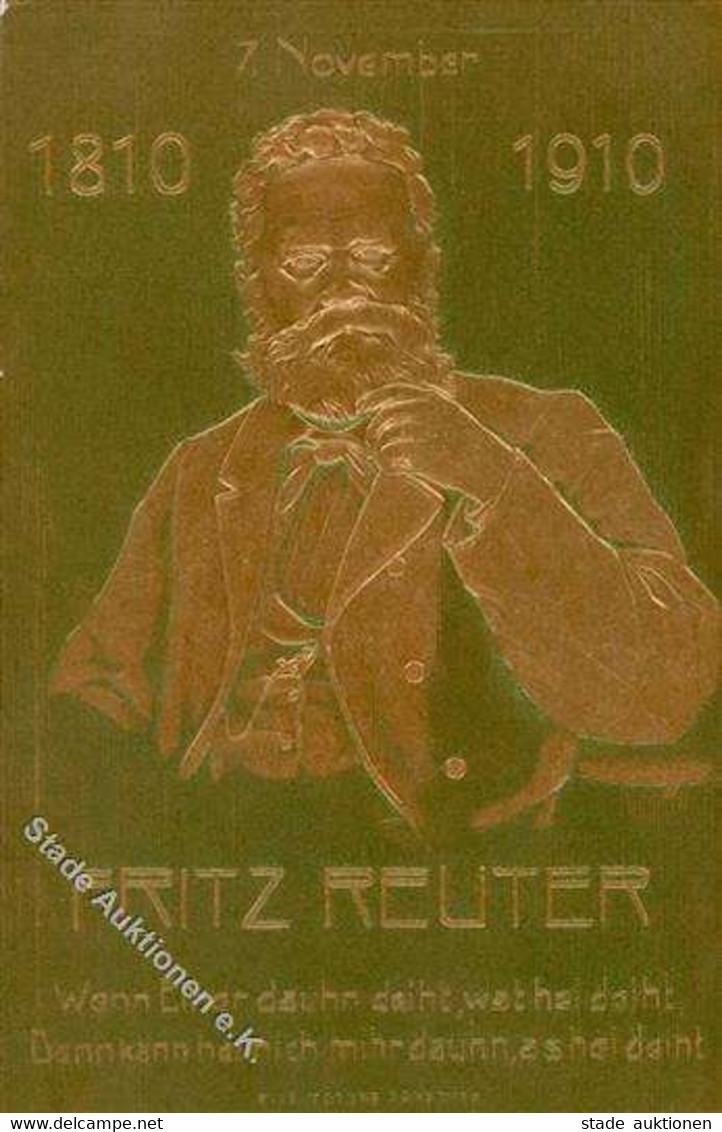 Arbeiterbewegung - Prägelitho 7. November 1810-1910 100 Jahre FRITZ REUTER I - Familias Reales