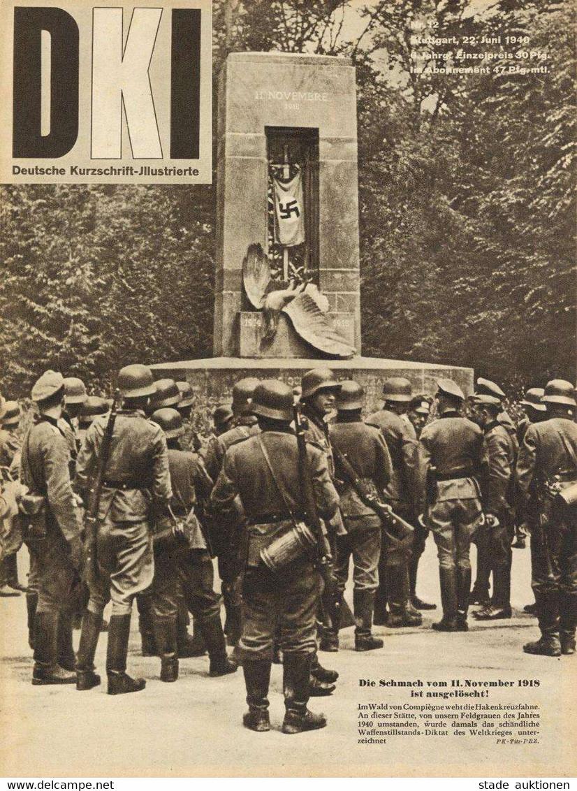 Buch WK II Buch WK II Zeitschrift 1x DKI Deutsche Kurzschrift Illustrierte Juni 1940 Verlag Chr. Belser Viele Abbildunge - Guerra 1939-45