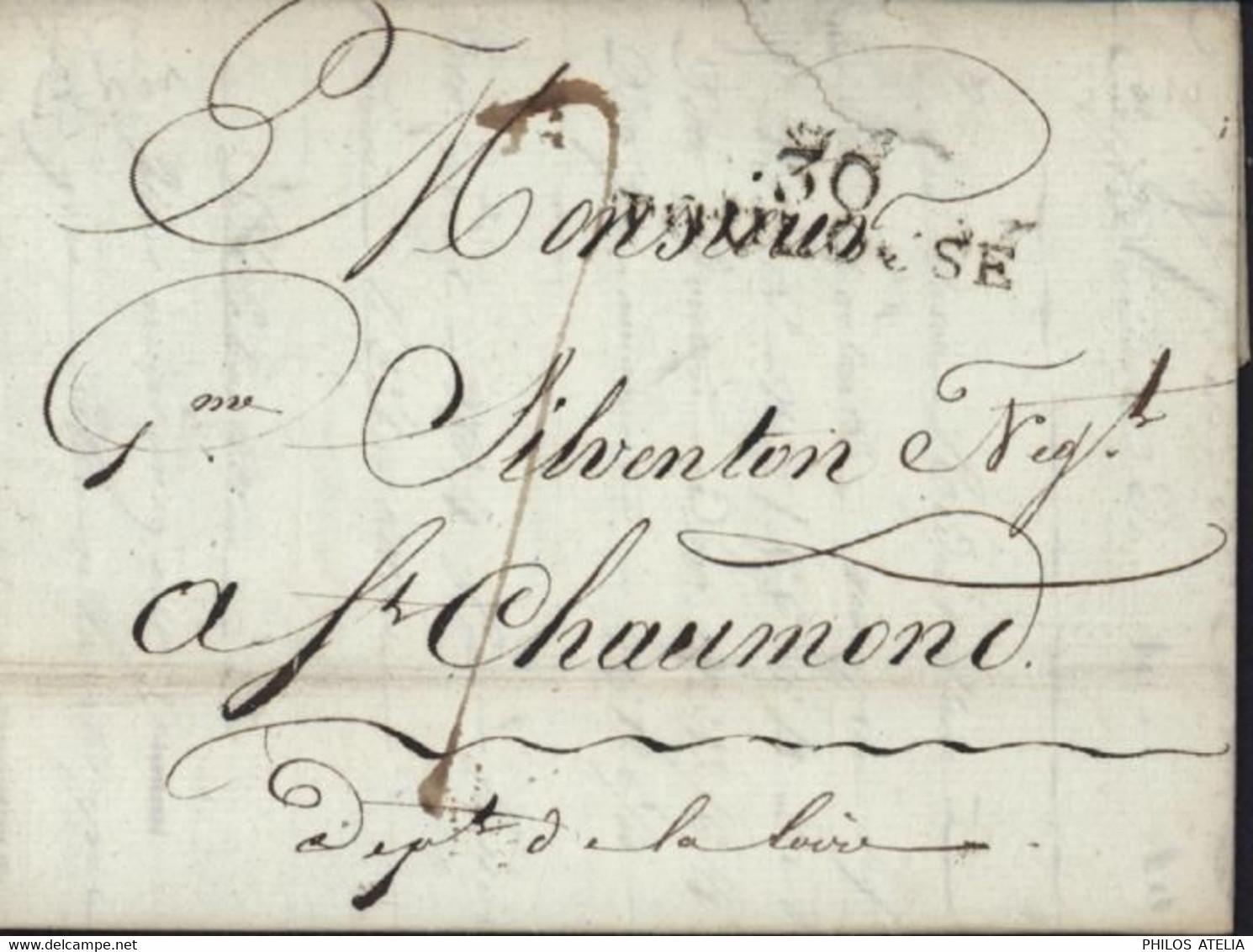 Marque Postale De Toulouse 39X10 Lettre Avec échantillons De Tissus Pour St Chamond Loire 29 1 1810 Taxe Manuscrite 7 - 1801-1848: Precursors XIX