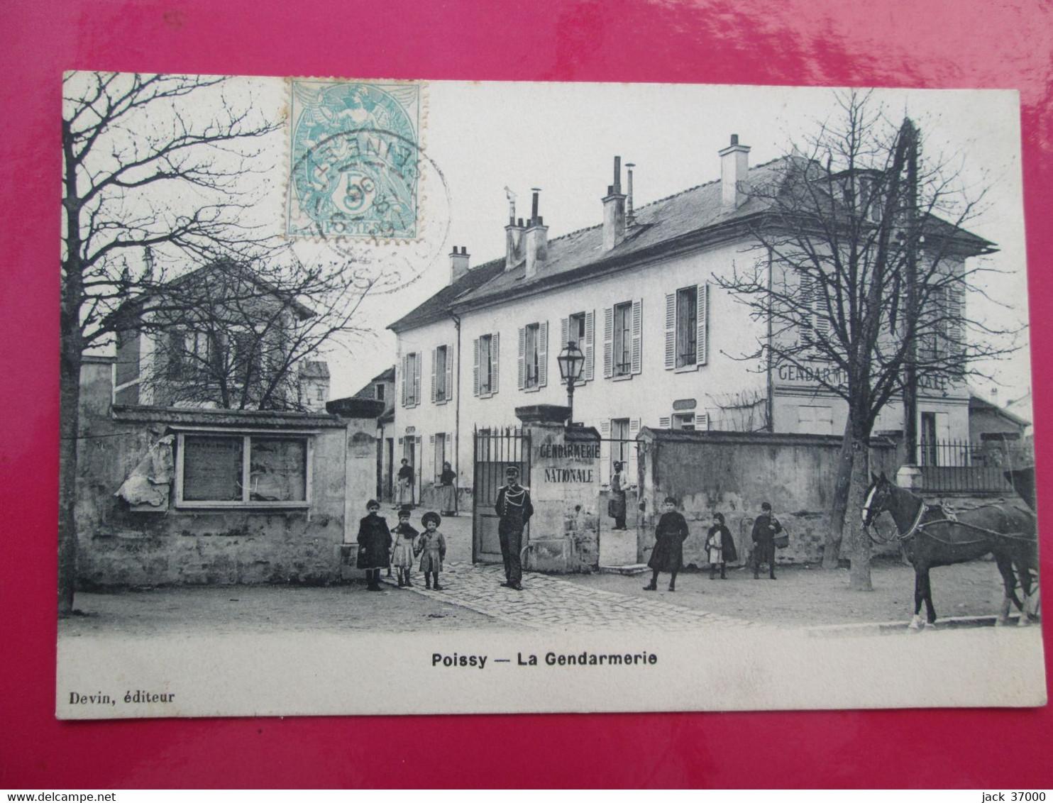 POISSY   La Gendarmerie , Animé - Poissy