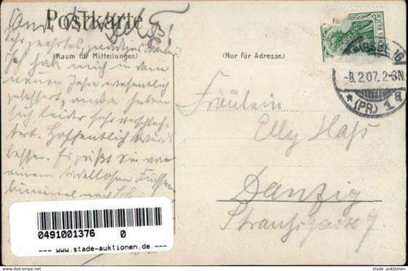 Königsberg Russische Föderation Borussia Seis Panier Studentika  Lithographie 1907 I-II - Rusia