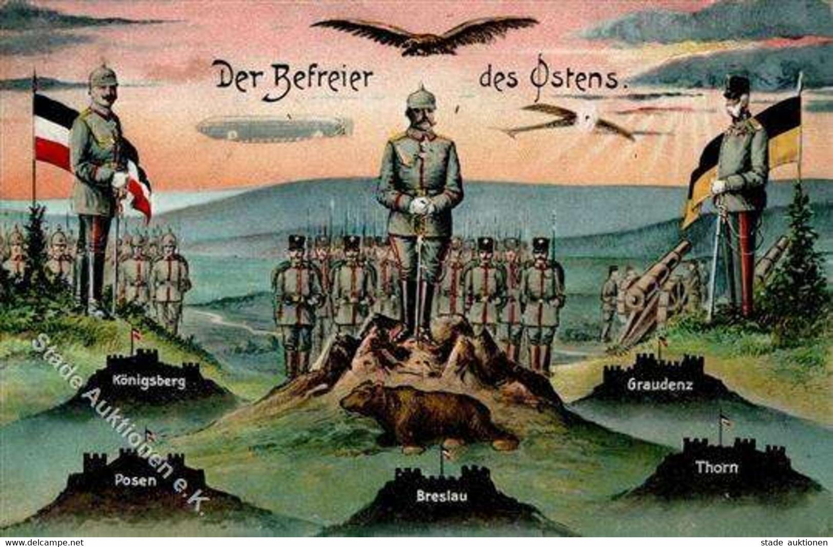 Königsberg Russische Föderation Der Befreier Des Ostens 1915 I-II - Russia