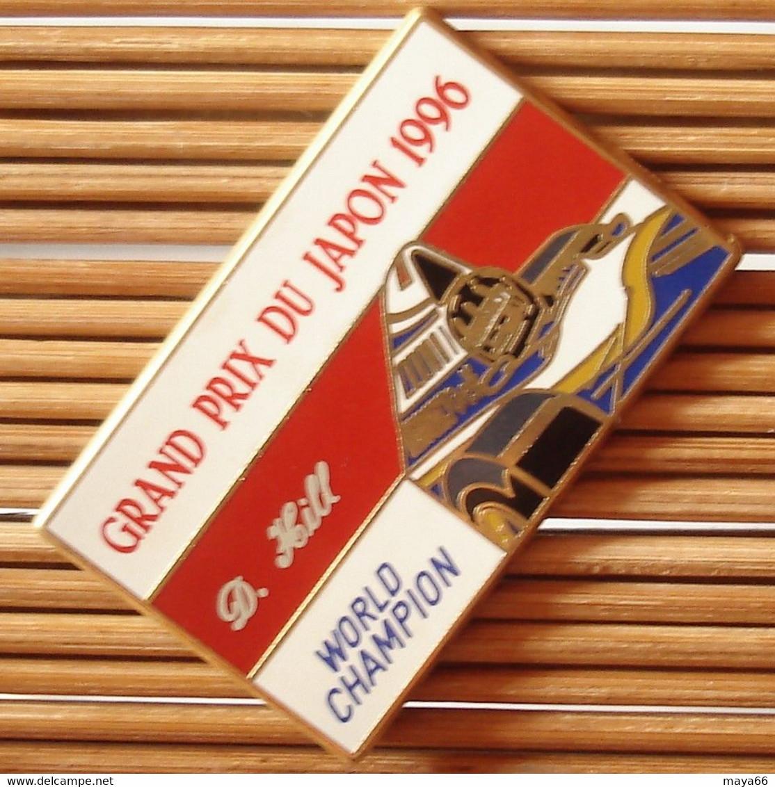 Joli Pin's Renault F1 GP Du Japon 1996, D. Hill, Zamac, TBQ, Pins Pin. - F1