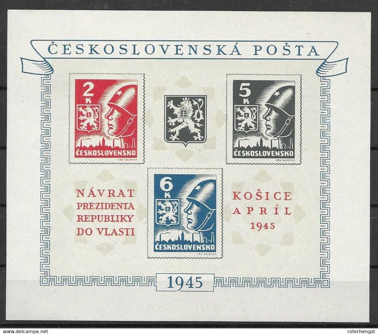 Czechoslovakia Mnh ** - Blocks & Sheetlets
