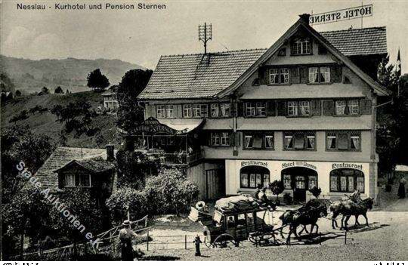 Nesslau (9650) Schweiz Hotel Sternen 1913 I - Otros