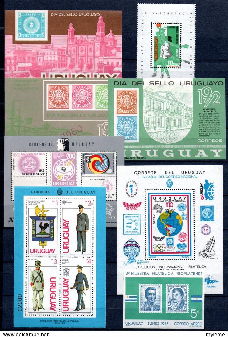 S164 Ensemble De 11 Blocs D'Uruguay **  A Saisir  !!! - Collections (with Albums)