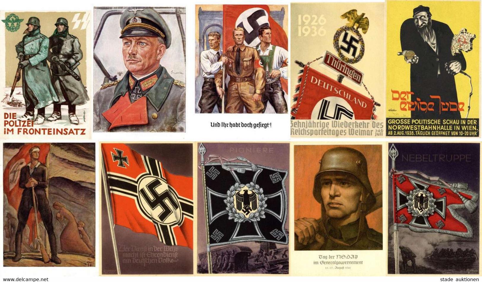 WK II Sammlung Von Circa 250 Ansichtskarten Im Album Unterschiedliche Erhaltungen - Guerra 1939-45