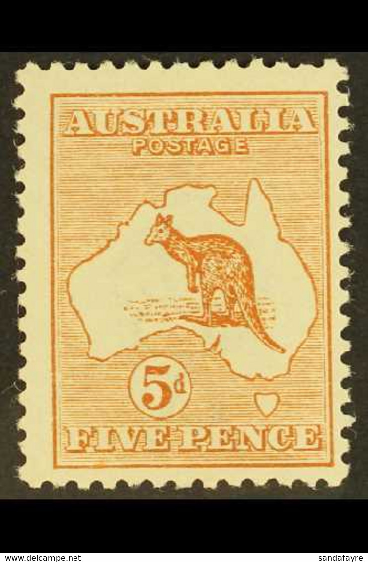 1913-14 5d Chestnut Kangaroo, SG 8, Fine Mint. For More Images, Please Visit Http://www.sandafayre.com/itemdetails.aspx? - Non Classificati