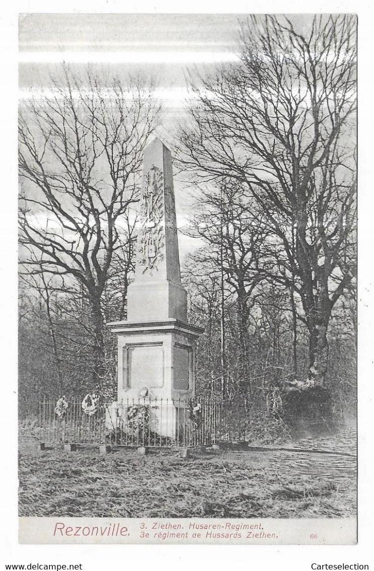 Rezonville 3. Ziethen. Hussaren-Regiment. 3e Régiment De Hussards Ziethen. - Other Municipalities