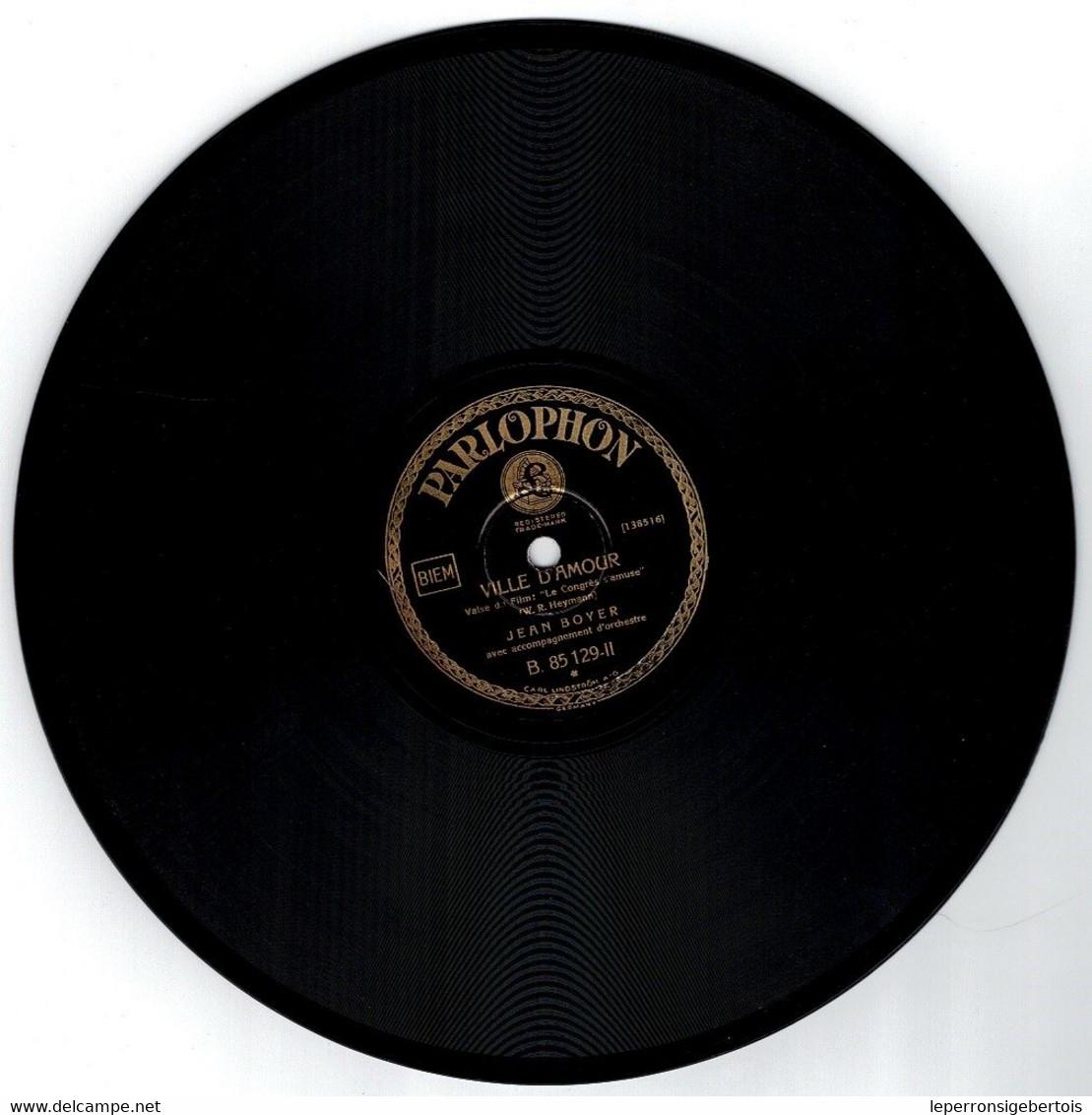 78 Tours - 1 Serait-ce Un Joli Rêve - 2 Ville D' Amour - Chansons De Film -  Disque Parlophon - - 78 G - Dischi Per Fonografi