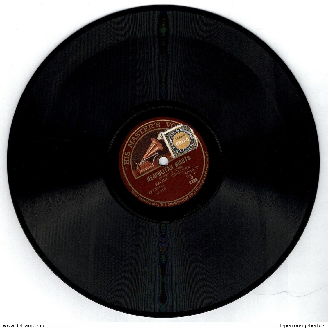 78 Tours - 1 Allah's Holiday - 2 Neapolan Nights -  Disque His Master's Voice - - 78 G - Dischi Per Fonografi