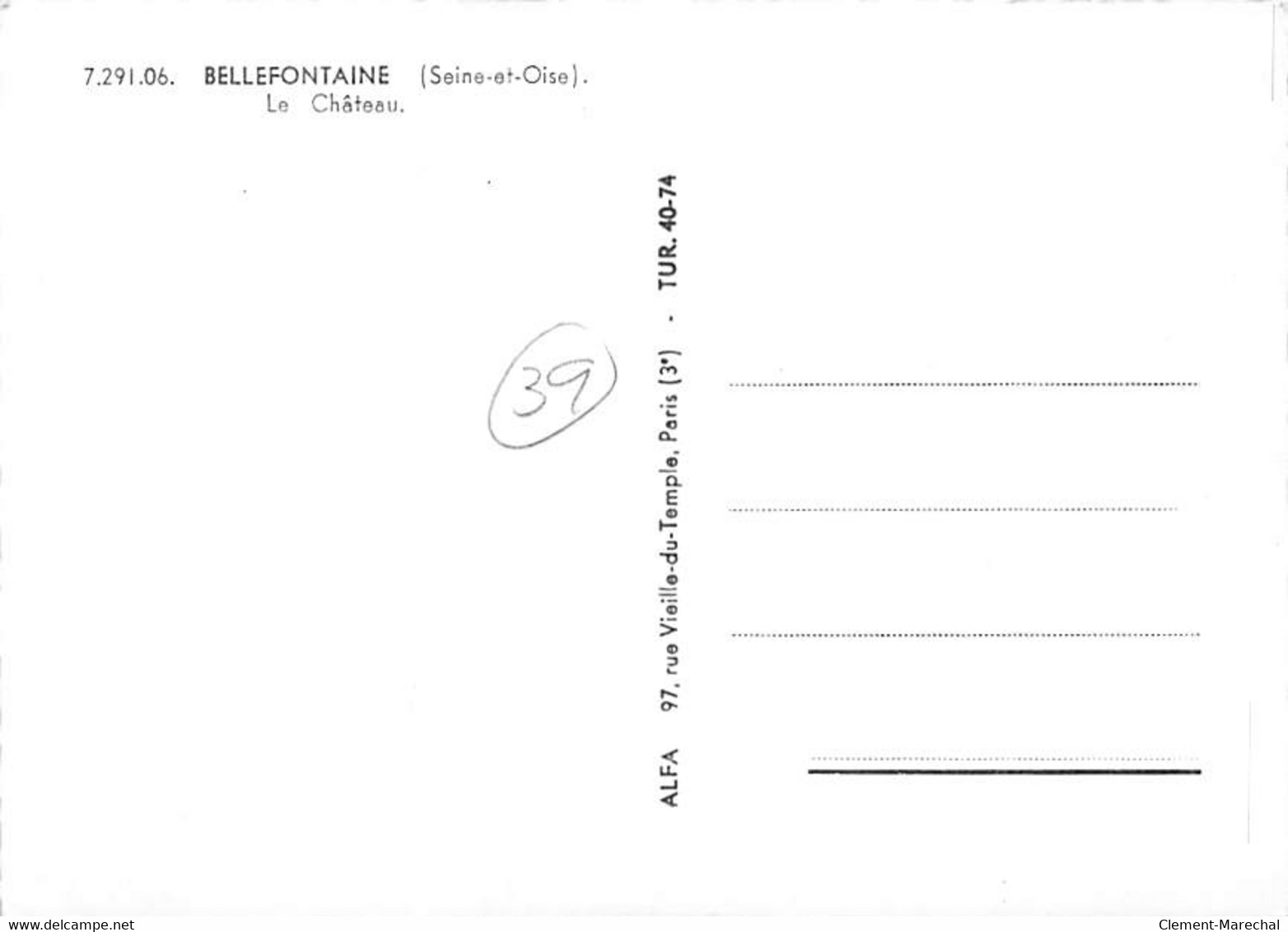 BELLEFONTAINE - Le Château - Très Bon état - Sonstige Gemeinden