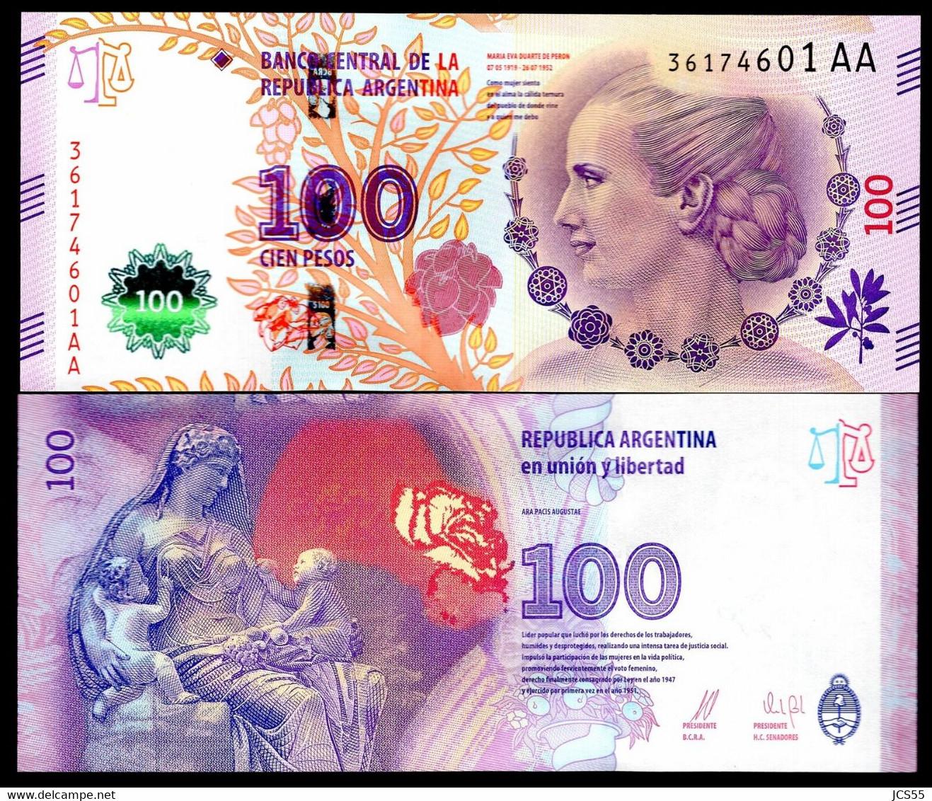 Argentina / Argentinië   -   100  Pesos  UNC  P358c  2016 - Argentina