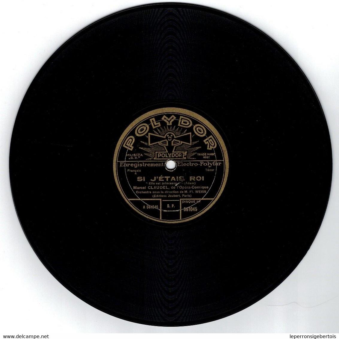78 Tours - 1 Les Dragons De Villars - 2 Si J 'Etais Roi - Chanson De Film  -  Disque Polydor - - 78 G - Dischi Per Fonografi