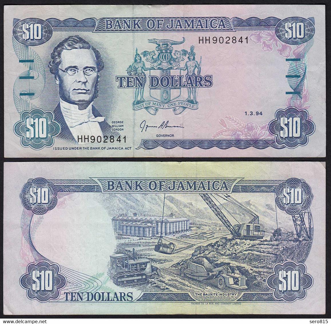 JAMAIKA - JAMAICA 10 Dollars Banknote 1994 Pick 71e VF (3)   (21517 - Other - America