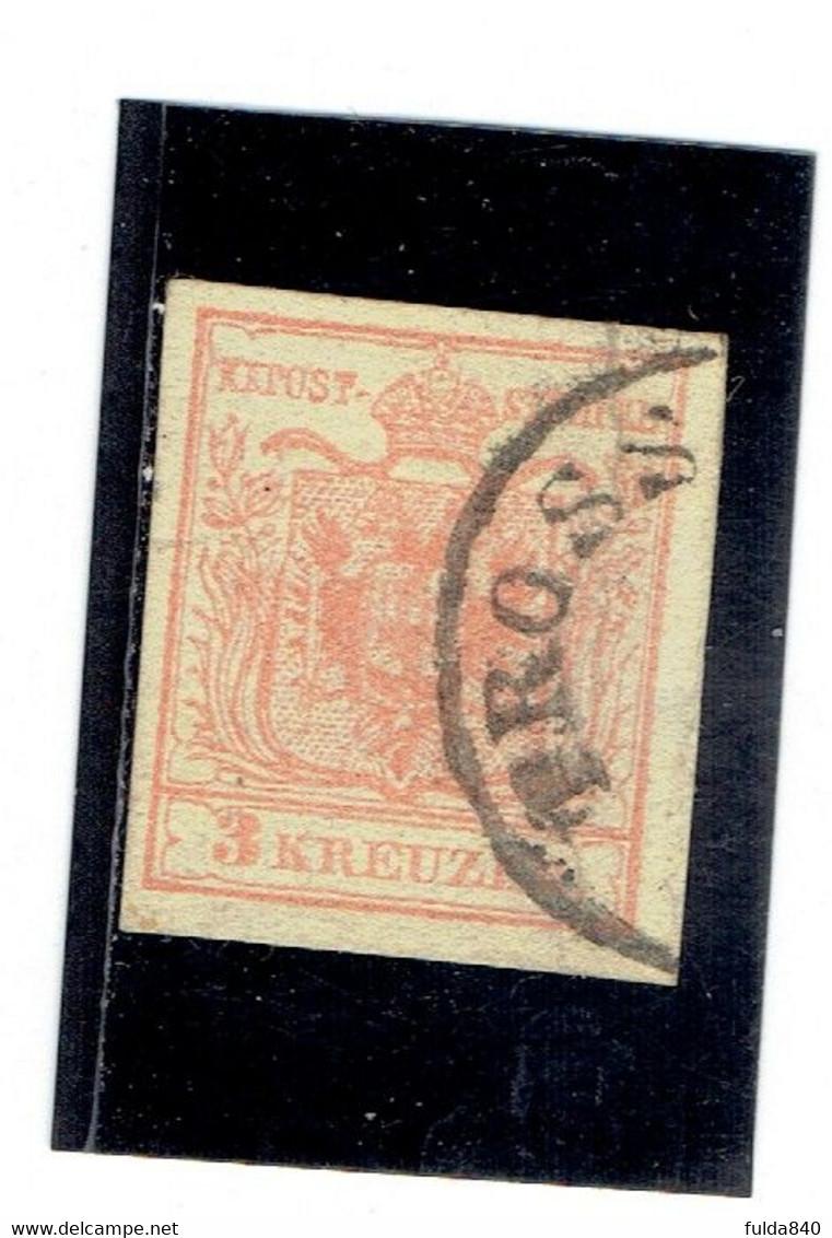 AUTRICHE-Empire ( Y&T) 1850 - N°3a  *Papier épais*    3k  (obli) TROSS - Usados