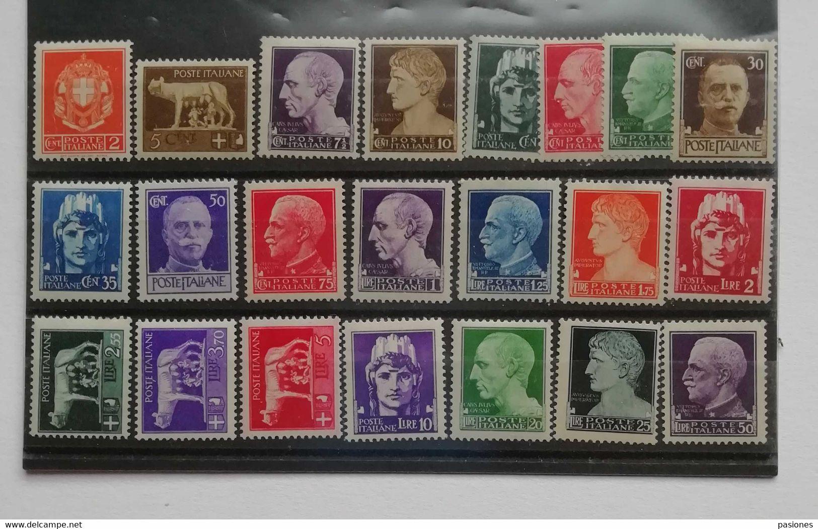 Regno D'Italia Vittorio Emanuele III 1929 Serie Imperiale Completa 22 Valori ** - Nuevos