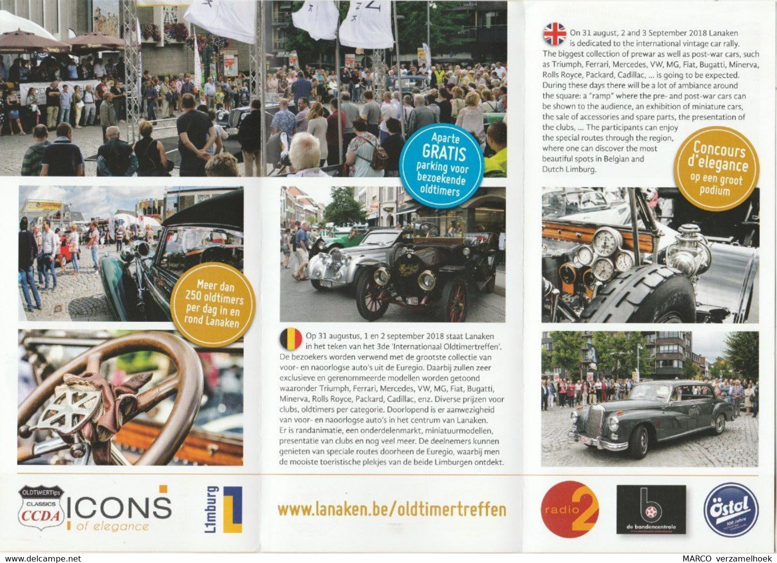 Brochure-leaflet Internationaal Oldtimertreffen Lanaken (B) 2018 - Andere