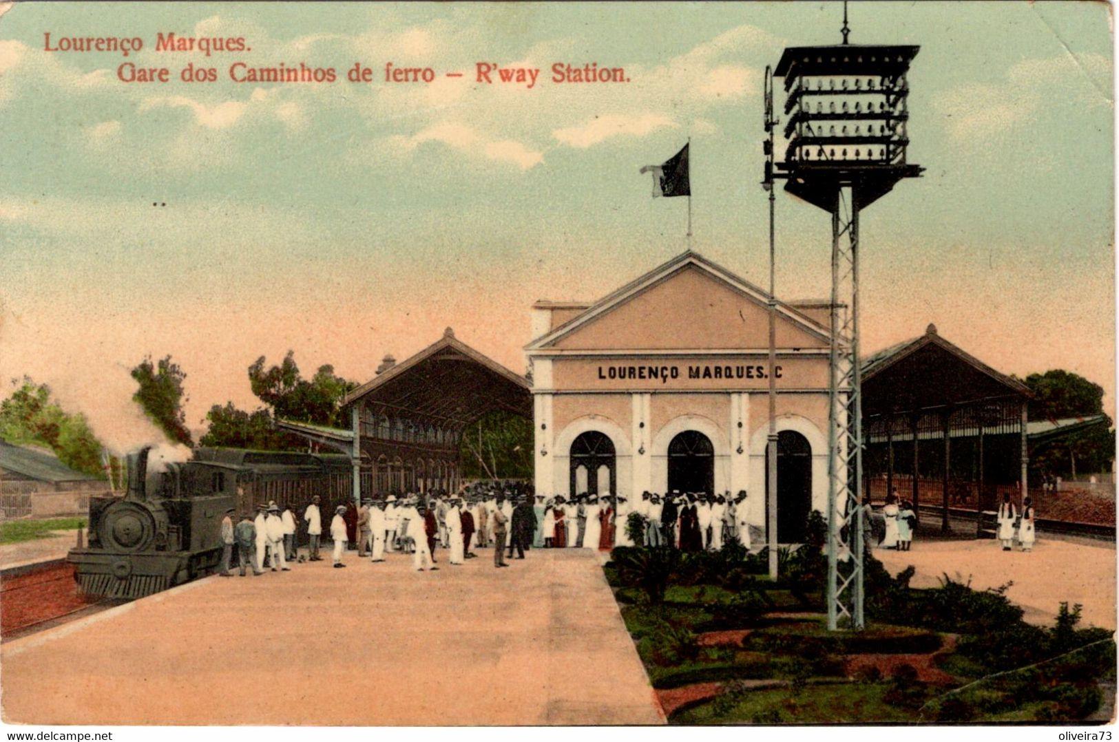 MOÇAMBIQUE - LOURENÇO MARQUES - Gare Do Caminho De Ferro - Mozambique