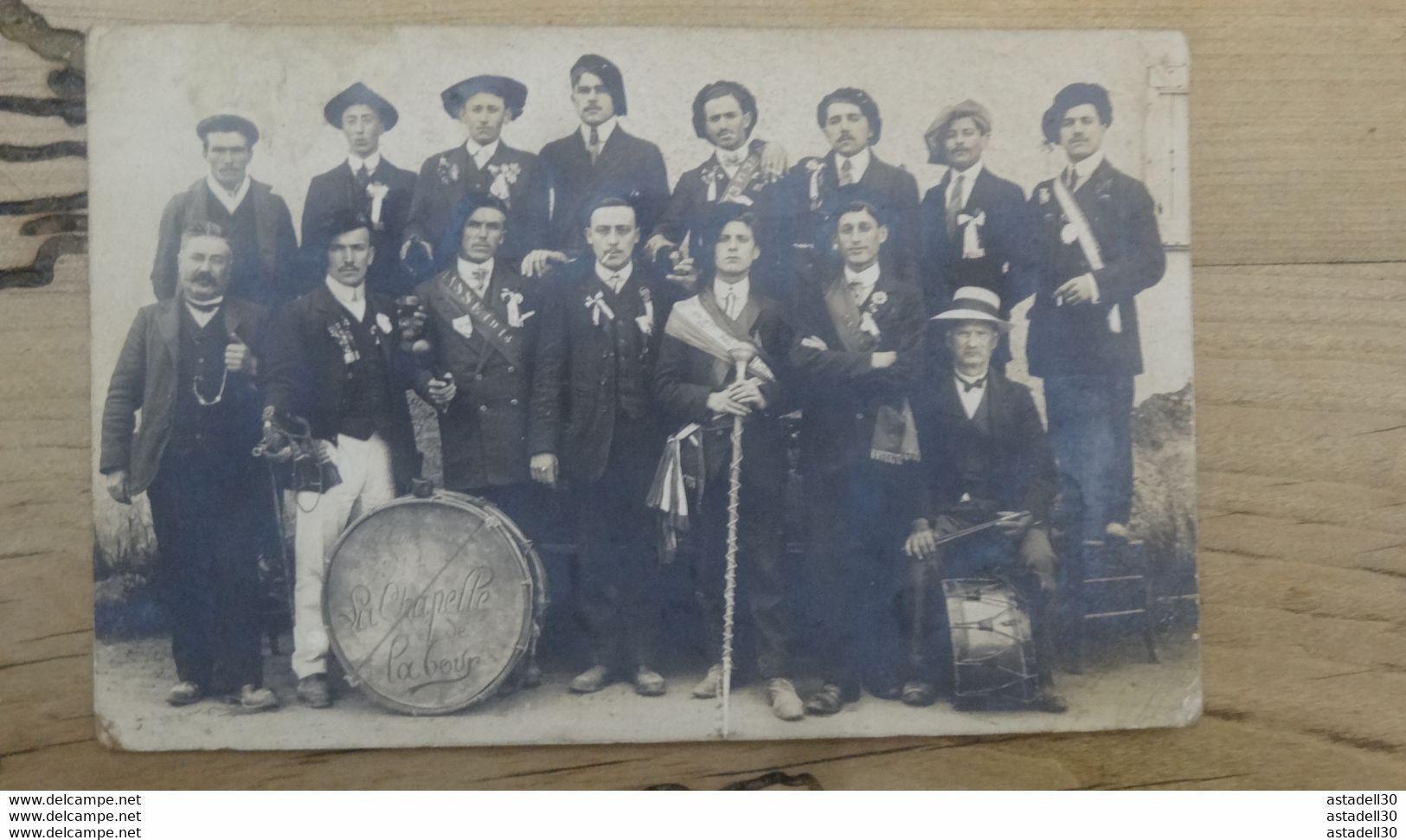 """Carte Photo : Militaires """"classe 1914 La CHAPELLE DE LA TOUR""""  ............. 103 - Guerra 1914-18"""