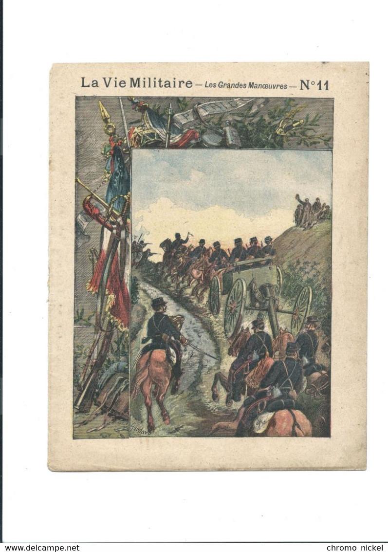 La Vie Militaire Les Grandes Manœuvres Protège-cahier Couverture 220 X 175 Bien 3 Scans - Book Covers