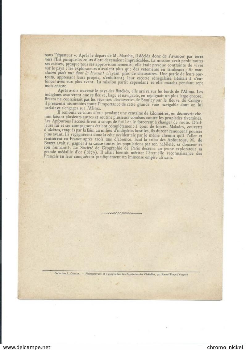 De BRAZZA CONGO GABON Comité Dupleix Colonies Françaises Protège-cahier Couverture 220 X 175 TB 3 Scans - Book Covers