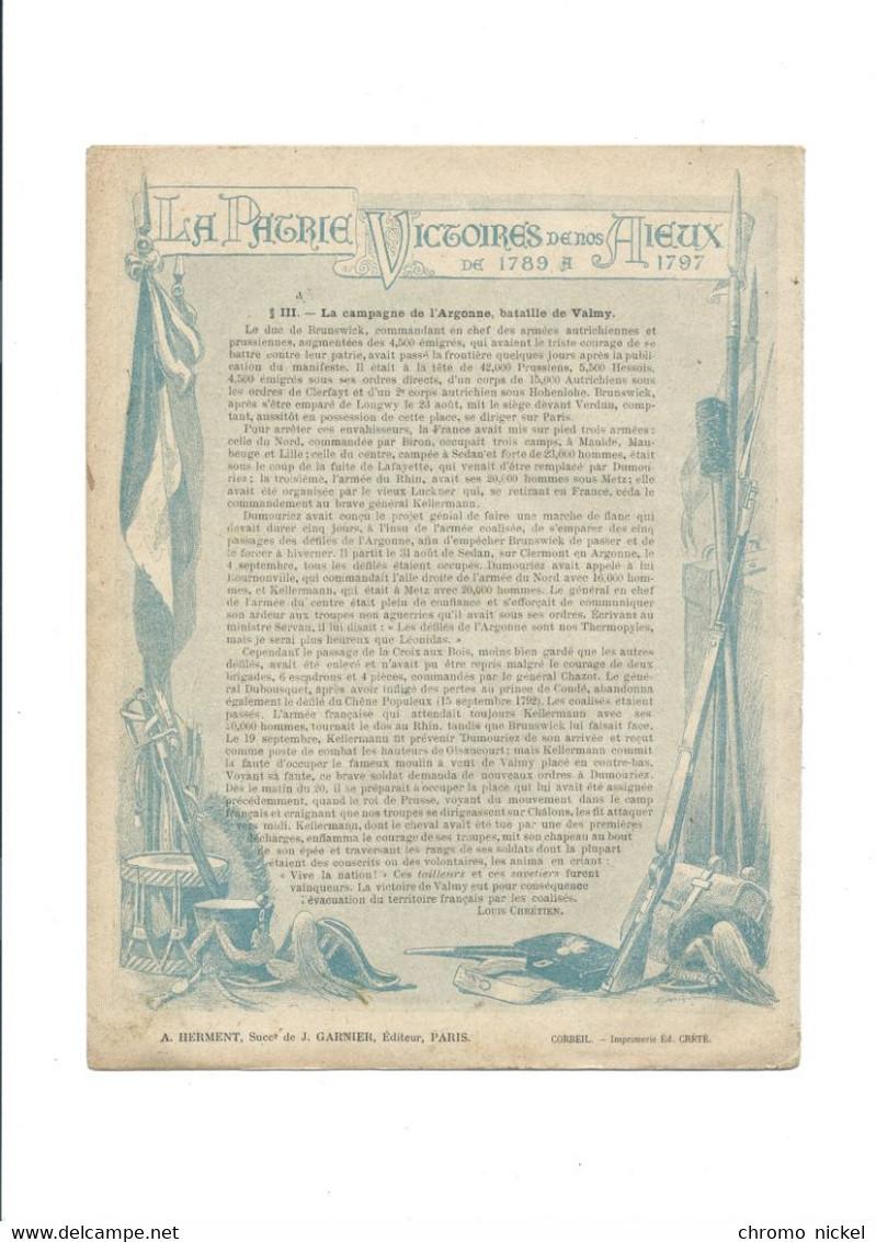 Moulin De Valmy Gl KELLERMANN La Patrie Victoires De Nos Aieux Protège-cahier Couverture 220 X 175 Bien 3 Scans - Book Covers