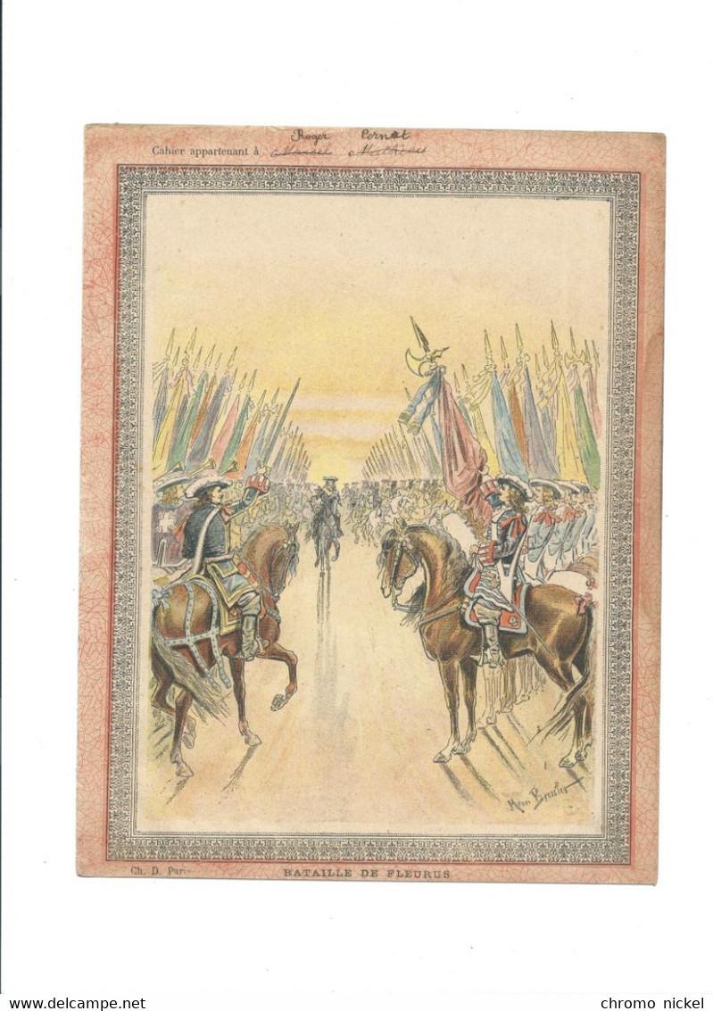 Bataille De Fleurus 1690 Protège-cahier Couverture 220 X 175 Bien 3 Scans - Book Covers