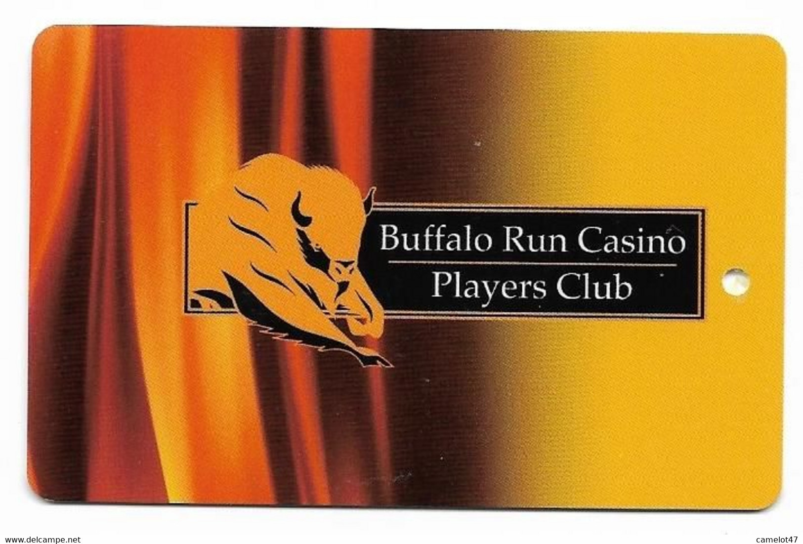 Buffalo Run Casino, Miami, OK, U.S.A., Older Used BLANK Slot Or Player's Card, # Buffalorun-2blank - Casino Cards