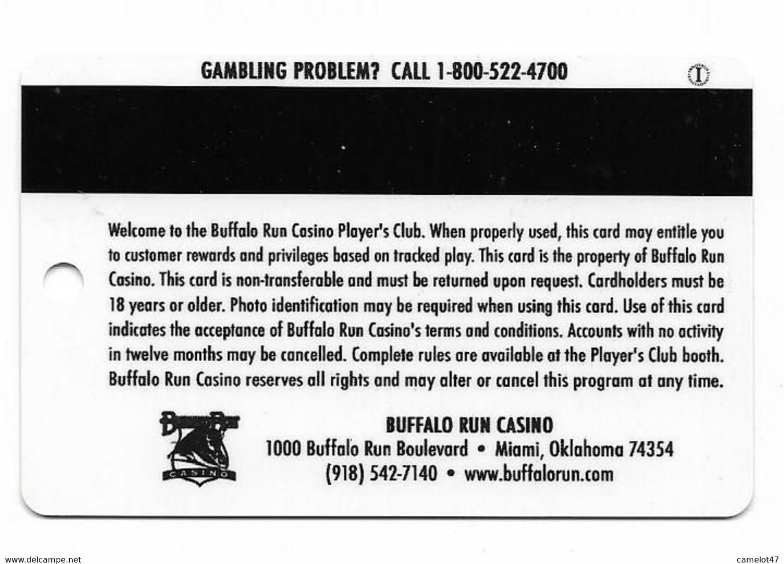 Buffalo Run Casino, Miami, OK, U.S.A., Older Used BLANK Slot Or Player's Card, # Buffalorun-3blank - Casino Cards