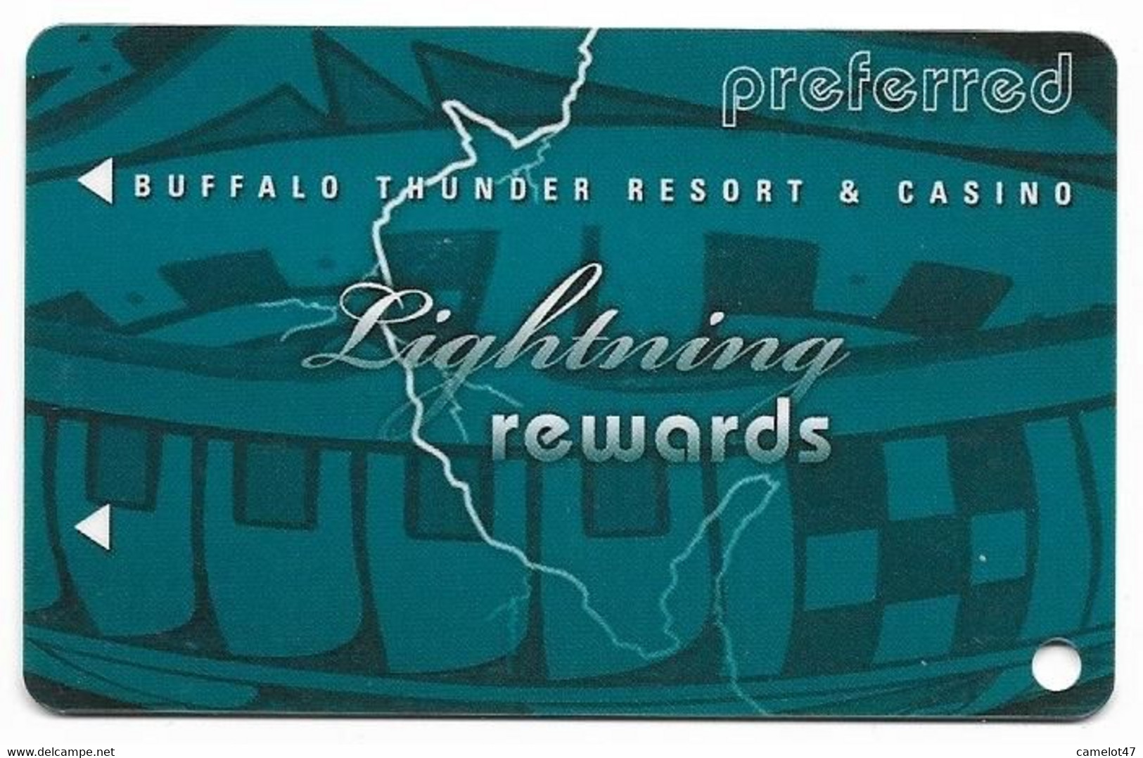 Buffalo Thunder Resort & Casino, Santa Fe, NM,  U.S.A., Older Used BLANK Slot Or Player's Card, # Buffalothunder-1blank - Casino Cards