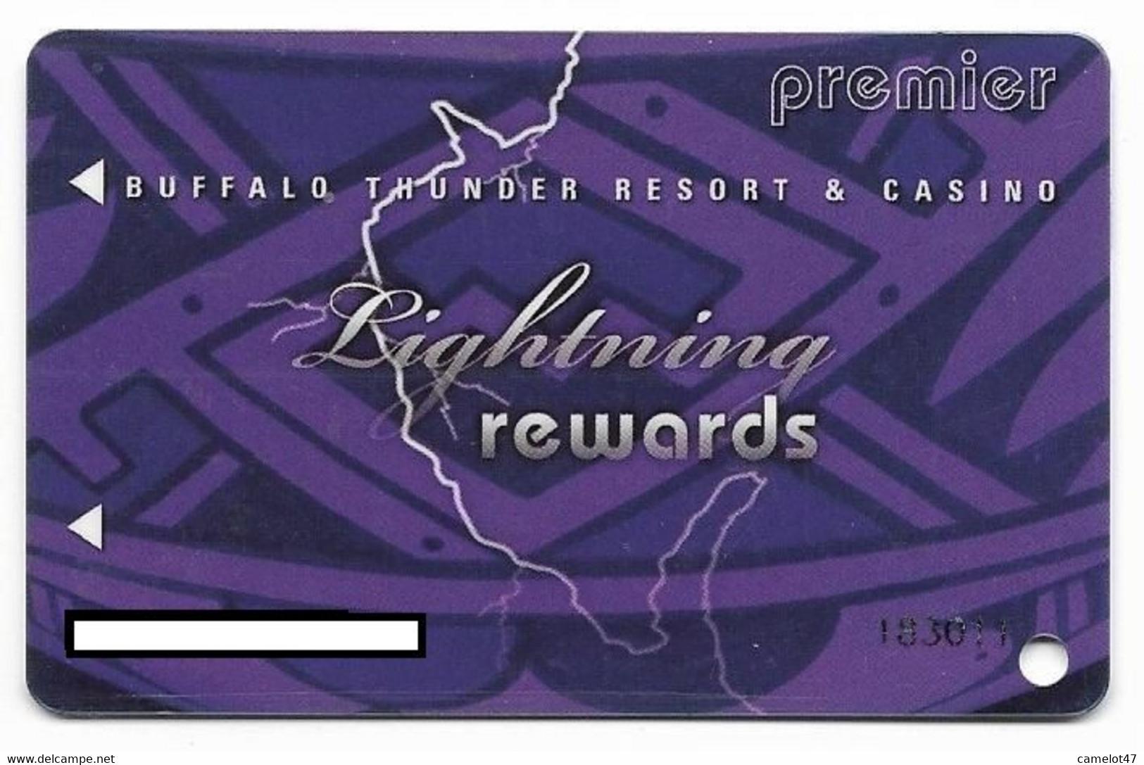 Buffalo Thunder Resort & Casino, Santa Fe, NM,  U.S.A., Older Used Slot Or Player's Card, # Buffalothunder-2 - Casino Cards