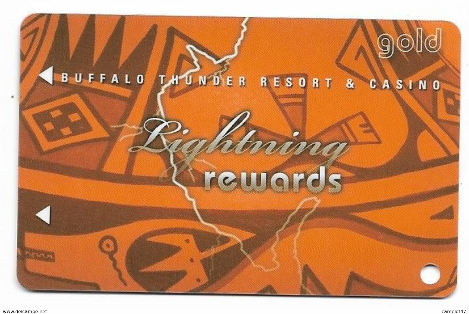 Buffalo Thunder Resort & Casino, Santa Fe, NM,  U.S.A., Older Used BLANK  Slot Or Player's Card, # Buffalothunder-3blank - Casino Cards