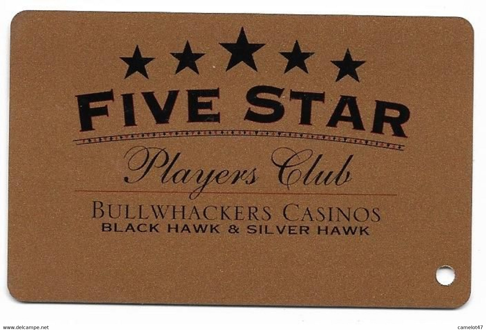 Bullwhackers Casinos, Black Hawk, CO, U.S.A. Used, Older BLANK Slot Or Player's Card, # Bullwhackers-1blank - Casino Cards