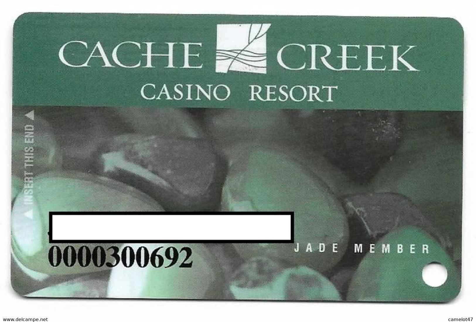 Cache Creek Casino, Brooks, CA, U.S.A., Older Used Slot Or Player's Card, # Cachecreek-1 - Casino Cards