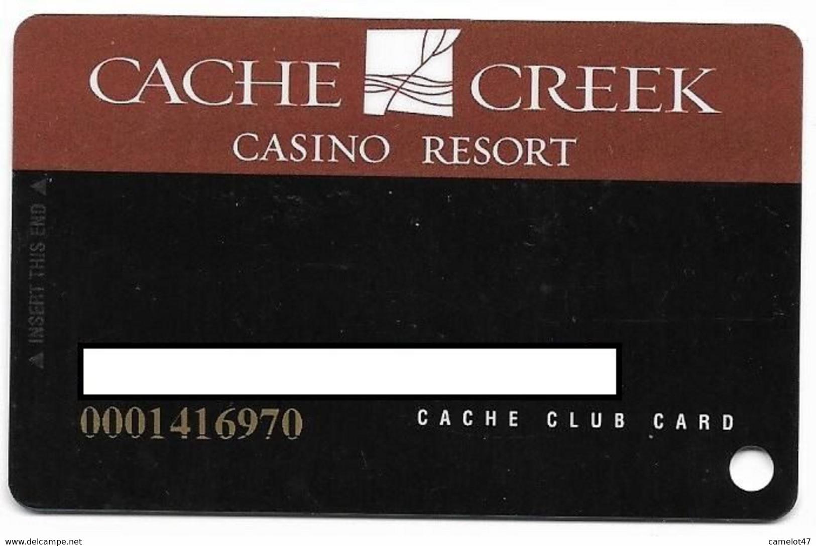 Cache Creek Casino, Brooks, CA, U.S.A., Older Used Slot Or Player's Card, # Cachecreek-2 - Casino Cards