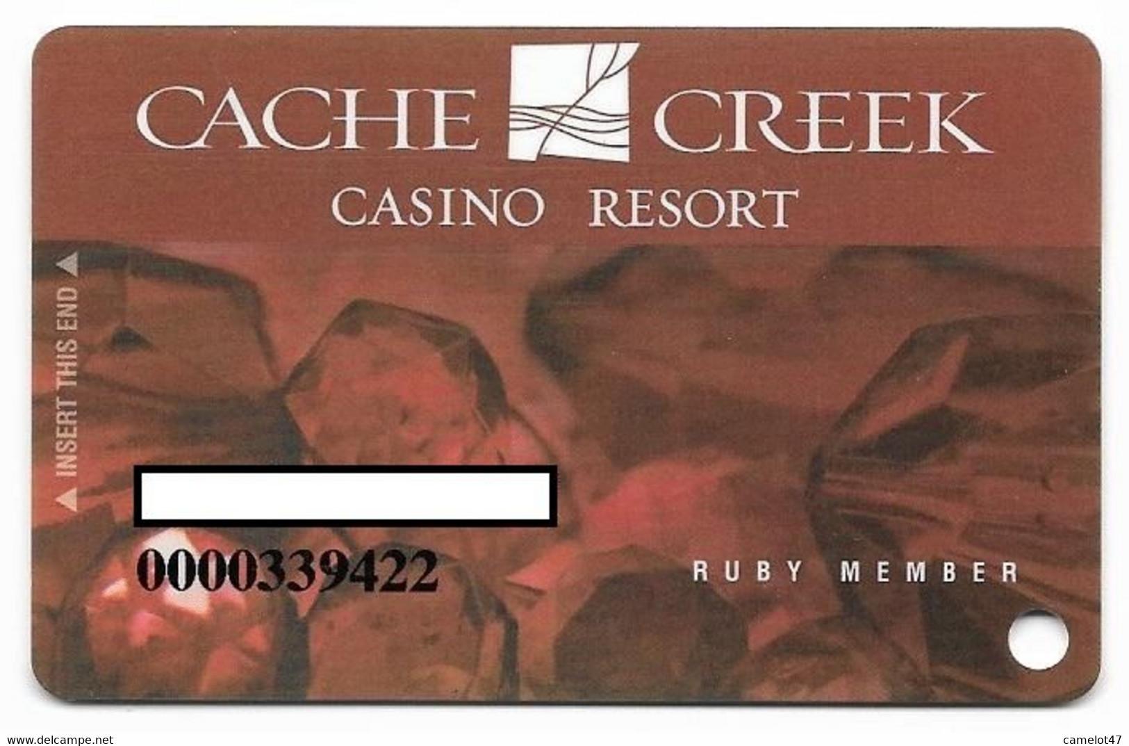 Cache Creek Casino, Brooks, CA, U.S.A., Older Used Slot Or Player's Card, # Cachecreek-4 - Casino Cards