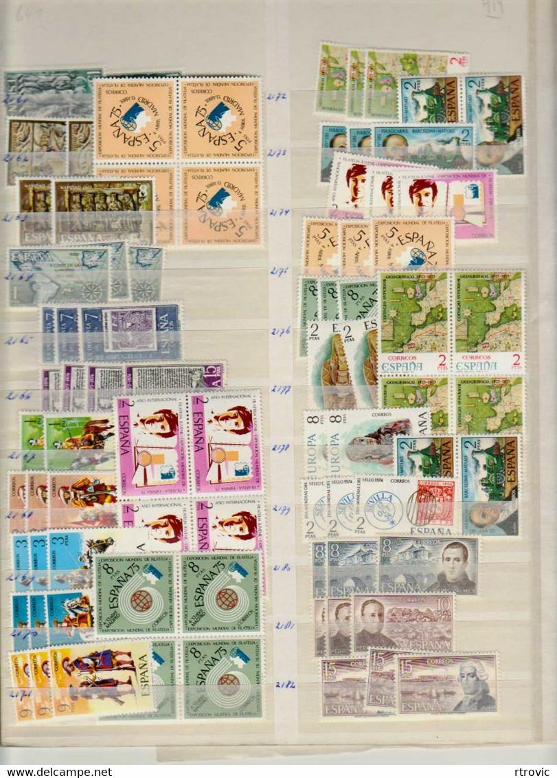 Espagne Enorme Stock De Timbres MNH Des Années 1969 à 1982 - Vendu Sans Le Classeur - 1971-80 Nuovi