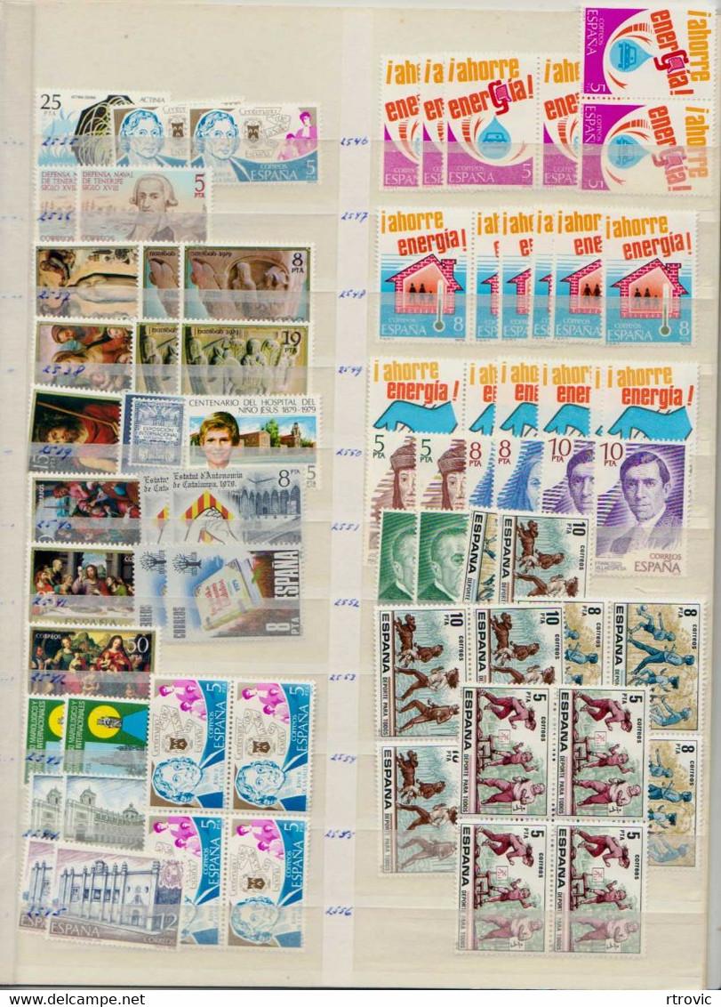 Espagne Enorme Stock De Timbres MNH Des Années 1969 à 1982 - Vendu Sans Le Classeur - 1971-80 Neufs