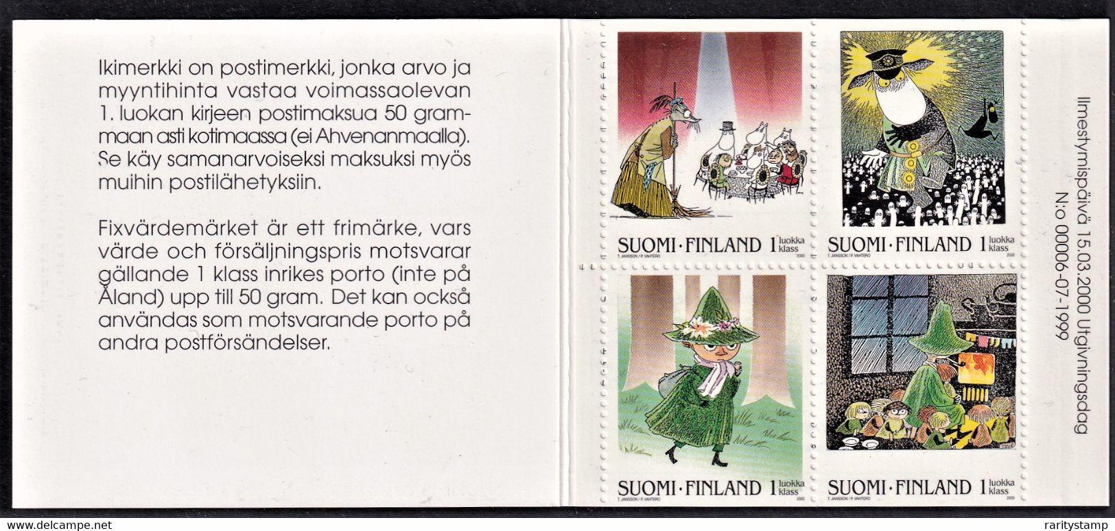FINLANDIA 2000 I MOOMINS LIBRETTO PERF.13X12 3/4 TYPE A SETEC Oy    MNH ** UNIF. L1486A - Nuevos