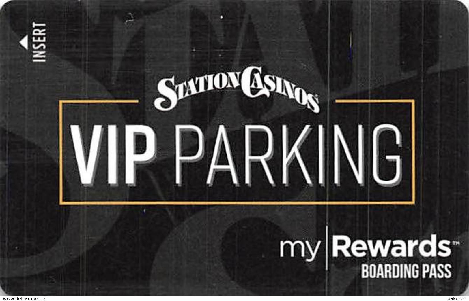 Station Casinos Las Vegas, NV - VIP Parking Card - Copyright 2018 - Exp  6/30/18 - Casino Cards