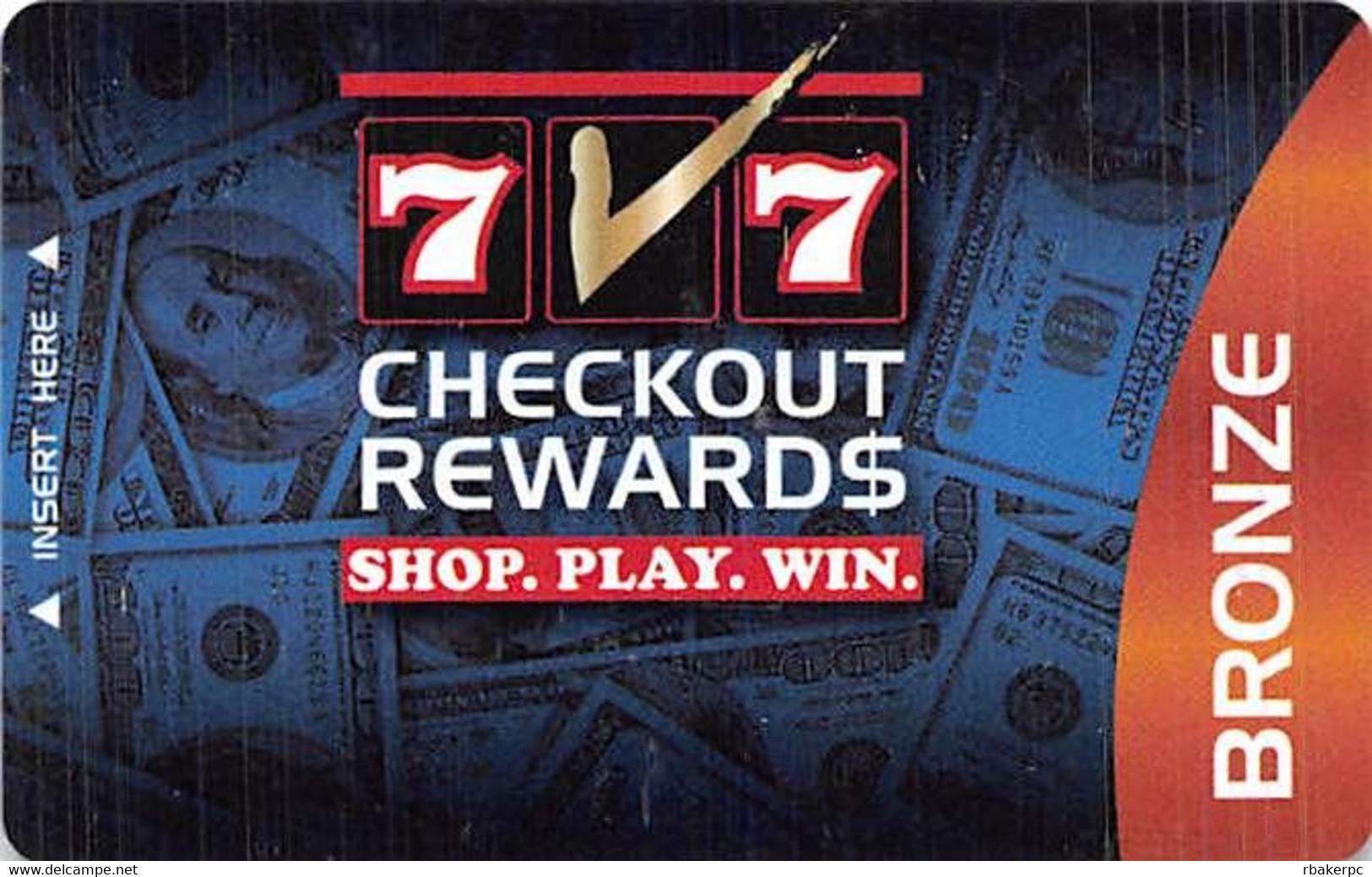 Golden Route Operations - Las Vegas, NV - BLANK Bronze Player Rewards / Slot Card - 4 Logos - Casino Cards