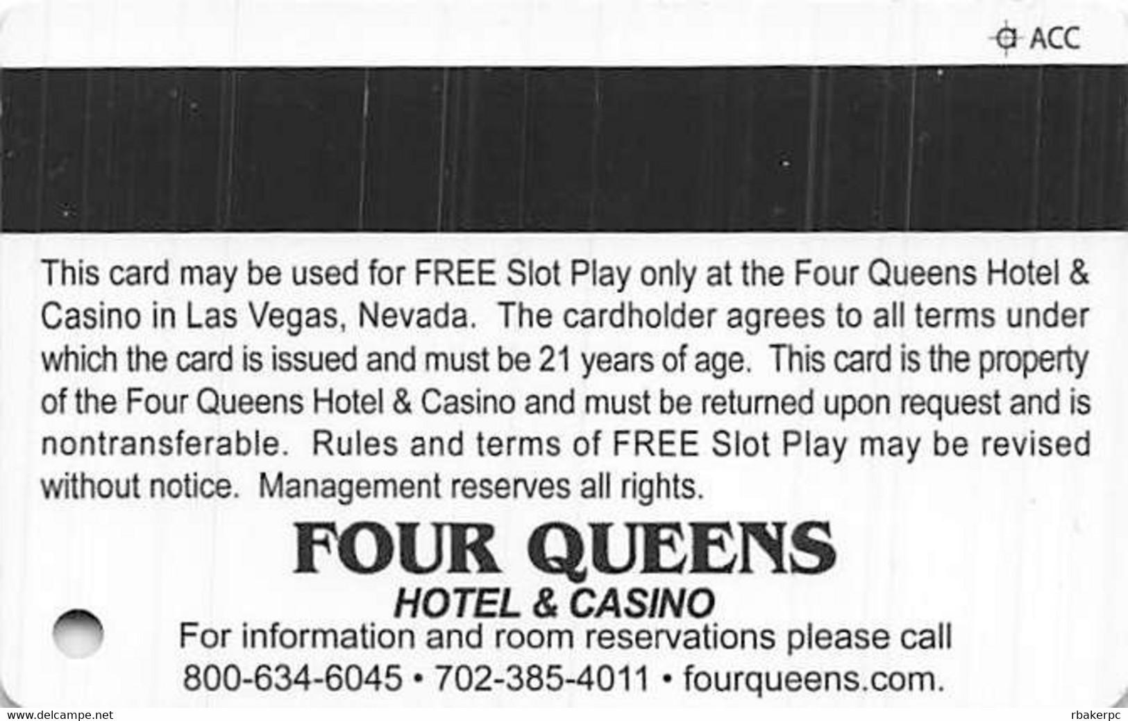 Four Queens Casino Las Vegas, NV - $50 Slot Play Card - ACC Over Mag Stripe - Casino Cards