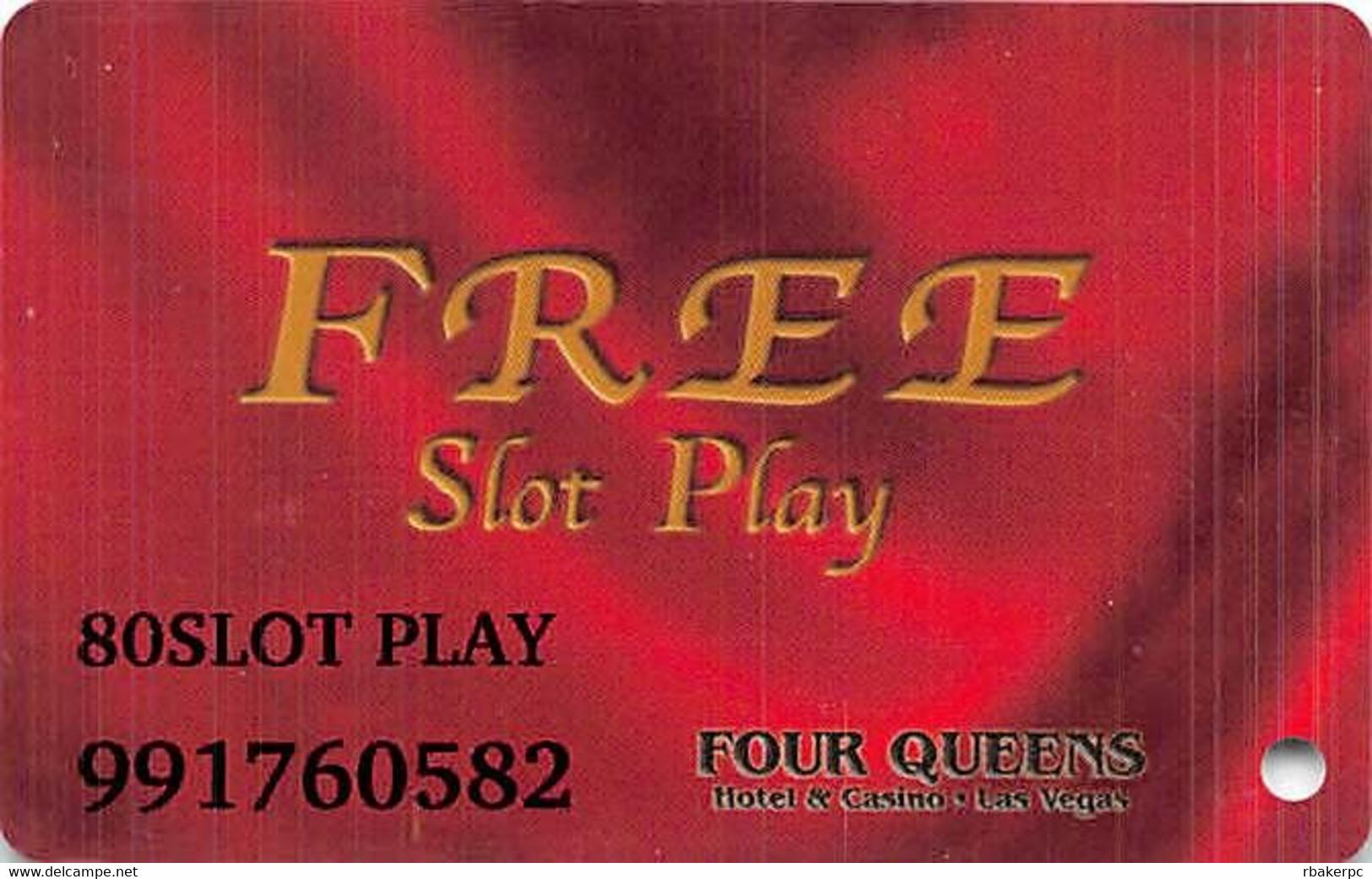 Four Queens Casino Las Vegas, NV - $80 Slot Play Card - ACC Over Mag Stripe - Casino Cards